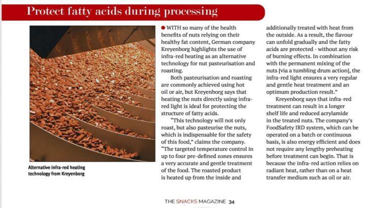 Bericht über FoodSafety-IRD in der The Snacks Magazine